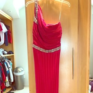 Bright pink formal, perfect for prom!